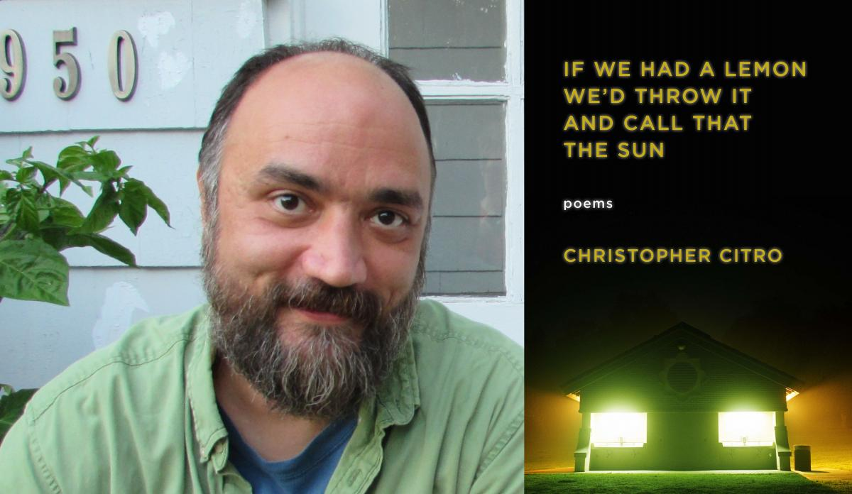 Christopher Citro portrait and the cover of his book
