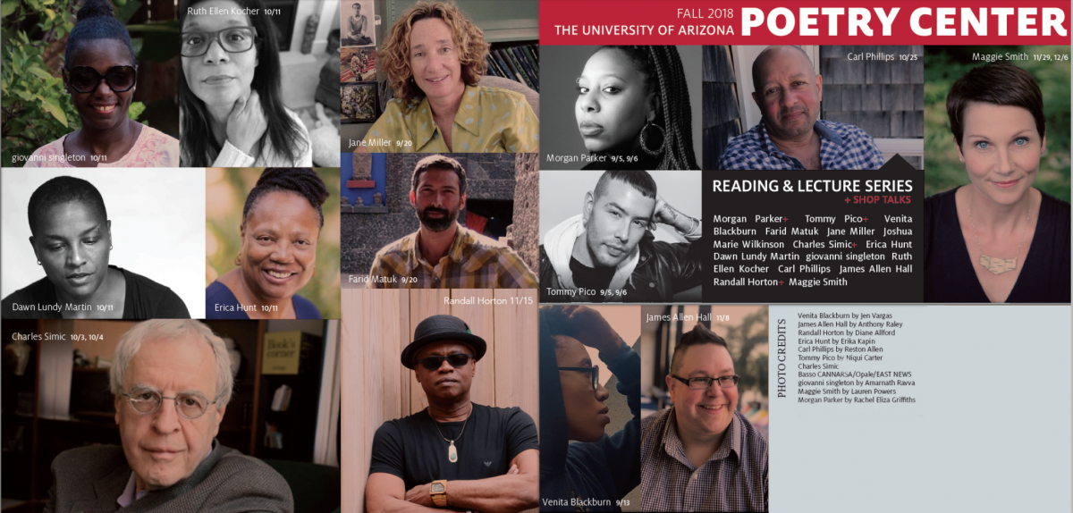 Collage of Fall 2018 Reading & Lecture Series readers