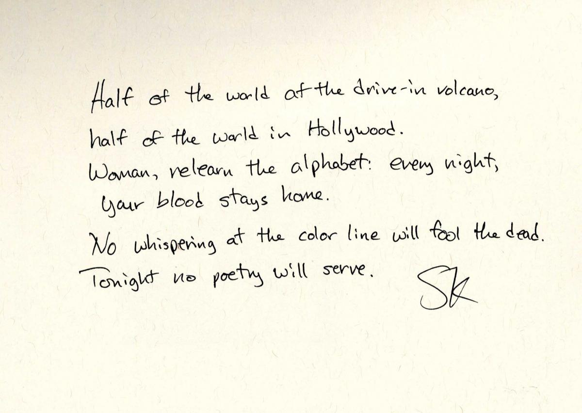 Image of a handwritten poem
