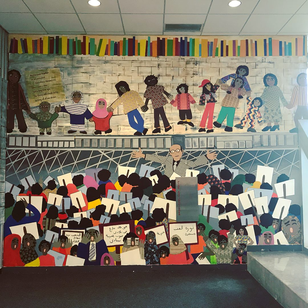 Hands Around the Library Mural