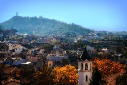 Aerial shot of Plovdiv, Bulgaria in the autumn / photo by Deniz Fuchidzhiev