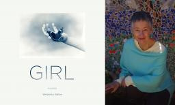 "image of the cover of ""GIRL"" next to author Veronica Golos"