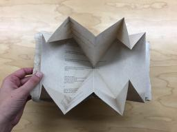 Jane Wong's Impossible Map partially unfolded