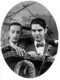 A picture of Salvador Dali and Federico Garcia Lorca