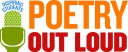 "Poetry Out Loud logo with the phrase ""Inspiring students"""