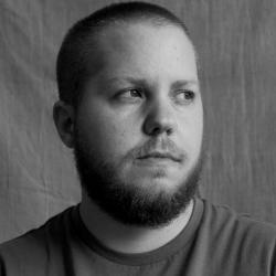 black and white portrait of Noah Baldino
