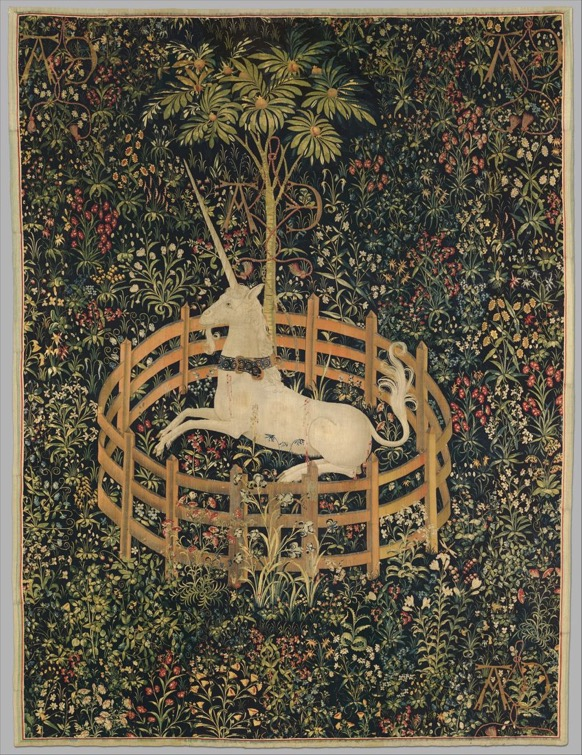 Image of the Unicorn in Captivity Tapestry